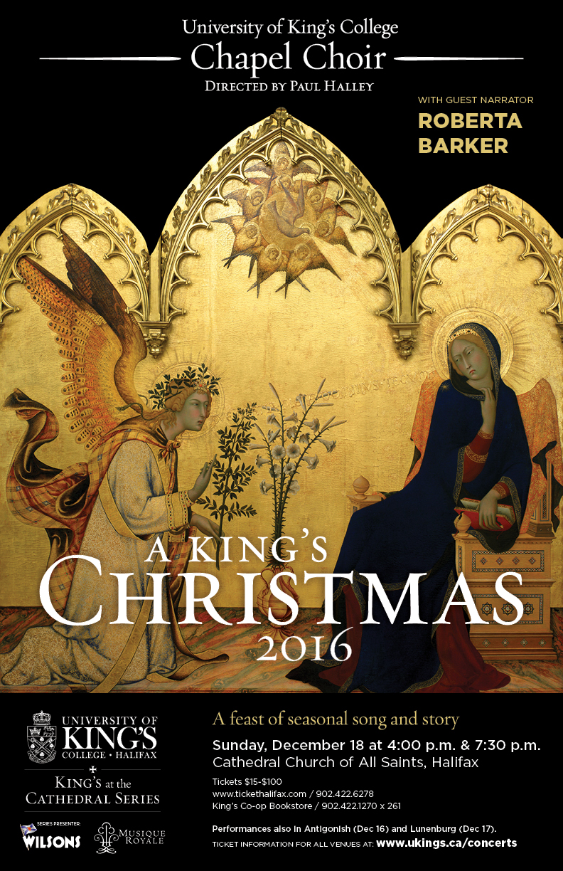 A King\'s Christmas / Halifax 7:30 pm Tickets | Cathedral Church of ...